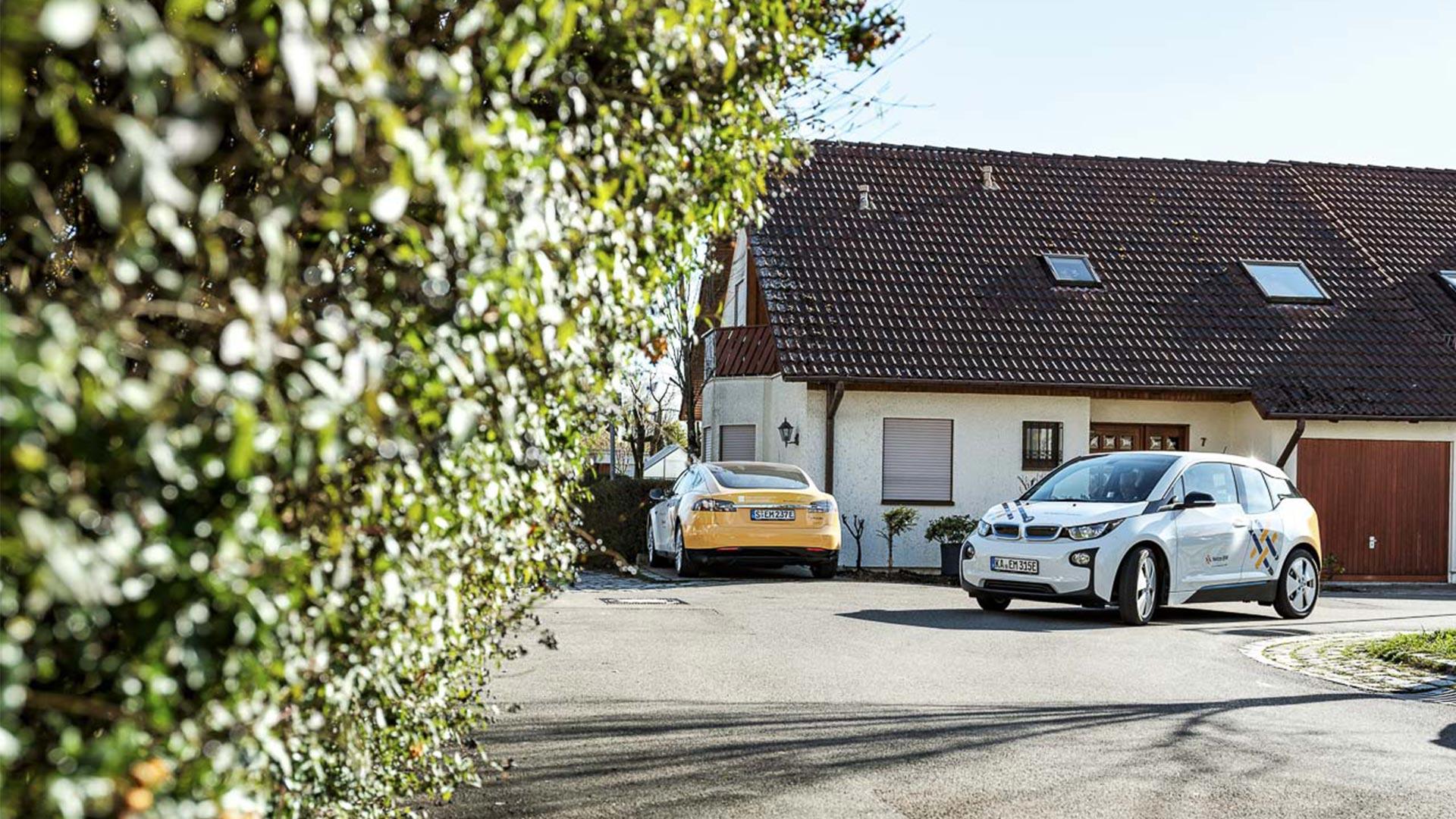 """Die Elektro-Nachbarn in der """"E-Mobility-Allee"""""""